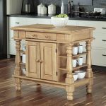 shop home styles brown farmhouse kitchen islands at lowes