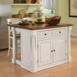 shop home styles white midcentury kitchen islands 2 stools at lowes