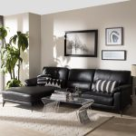 shop modern left facing chaise sectional sofa baxton studio