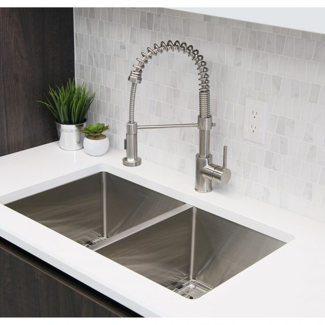 shop pull down sprayer single handle modern kitchen sink faucet
