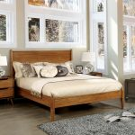 shop queen size mid century wooden paneled platform bed free