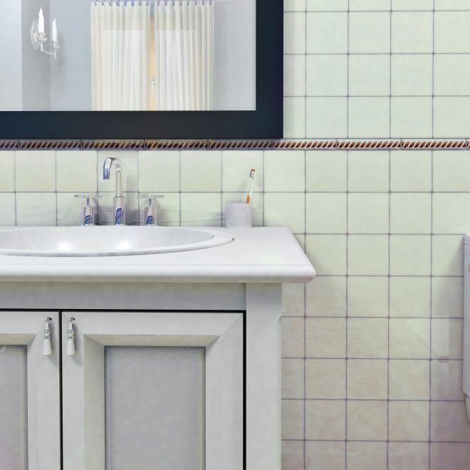 shop somertile 4x4 inch aspect ivory white porcelain floor and wall