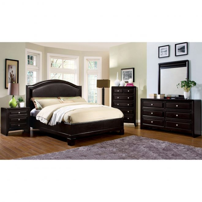 shop transitional espresso 4 piece bedroom set free shipping today