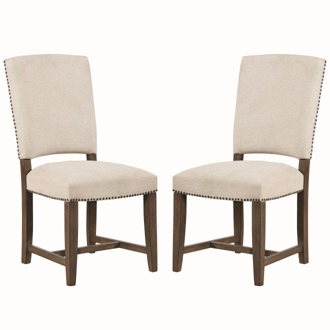 shop vintage french design upholstered dining chairs with nailhead