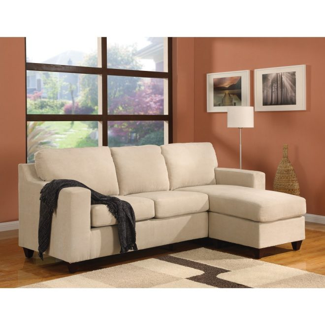 shop vogue microfiber sectional sofa free shipping today