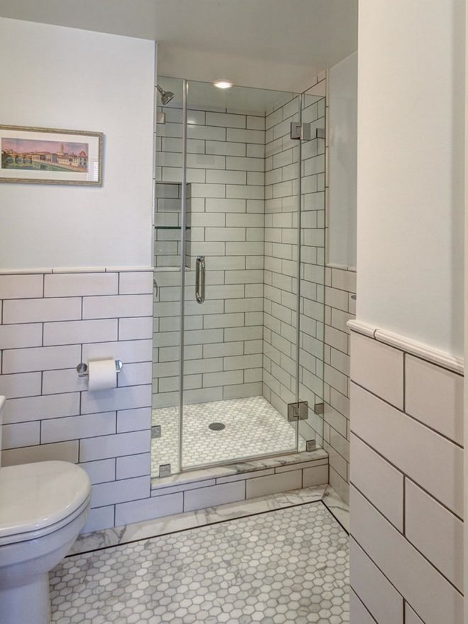 shower stalls for small bathrooms with glass wall divider