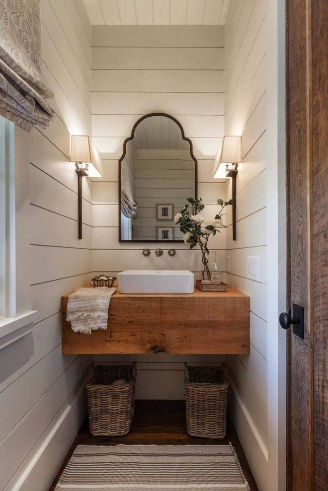 showing gallery of vintage style bathroom mirrors view 6 of
