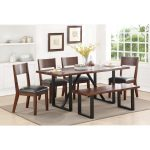 sierra ii rustic table set with dining bench standard furniture at standard furniture