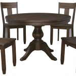 signature design ashley trudell 5 piece round dining table set