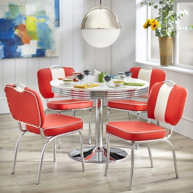 simple living raleigh retro dining set retro dining table