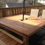 simple square cedar outdoor dining table ana white