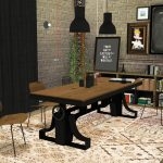 sims 4 ccs the best vintage industrial dining mxims