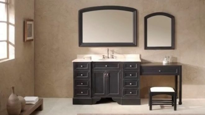 single sink bathroom vanity with makeup table youtube