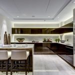 sleek luxurious contemporary kitchen in london apartment