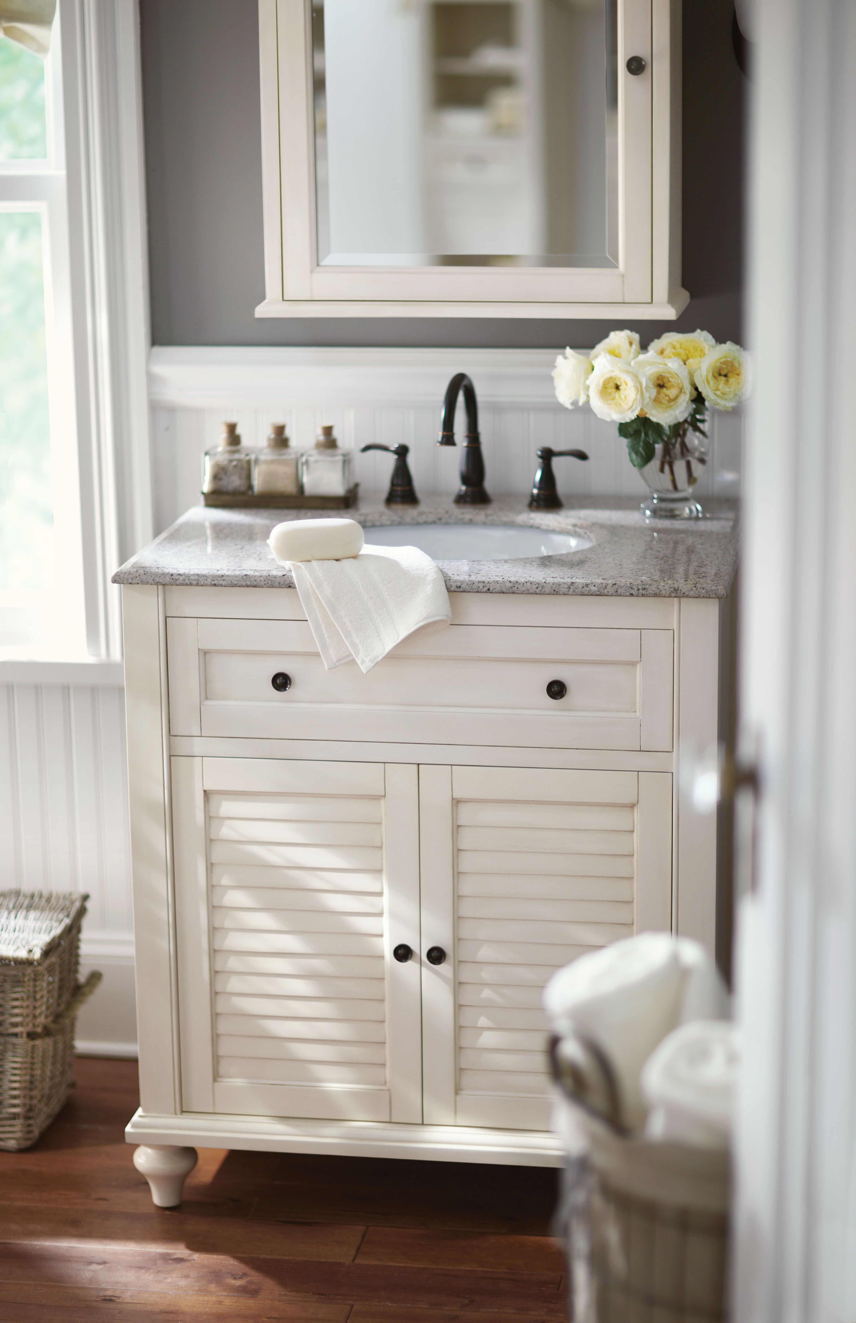 small bath no problem a single vanity like this one is the answer