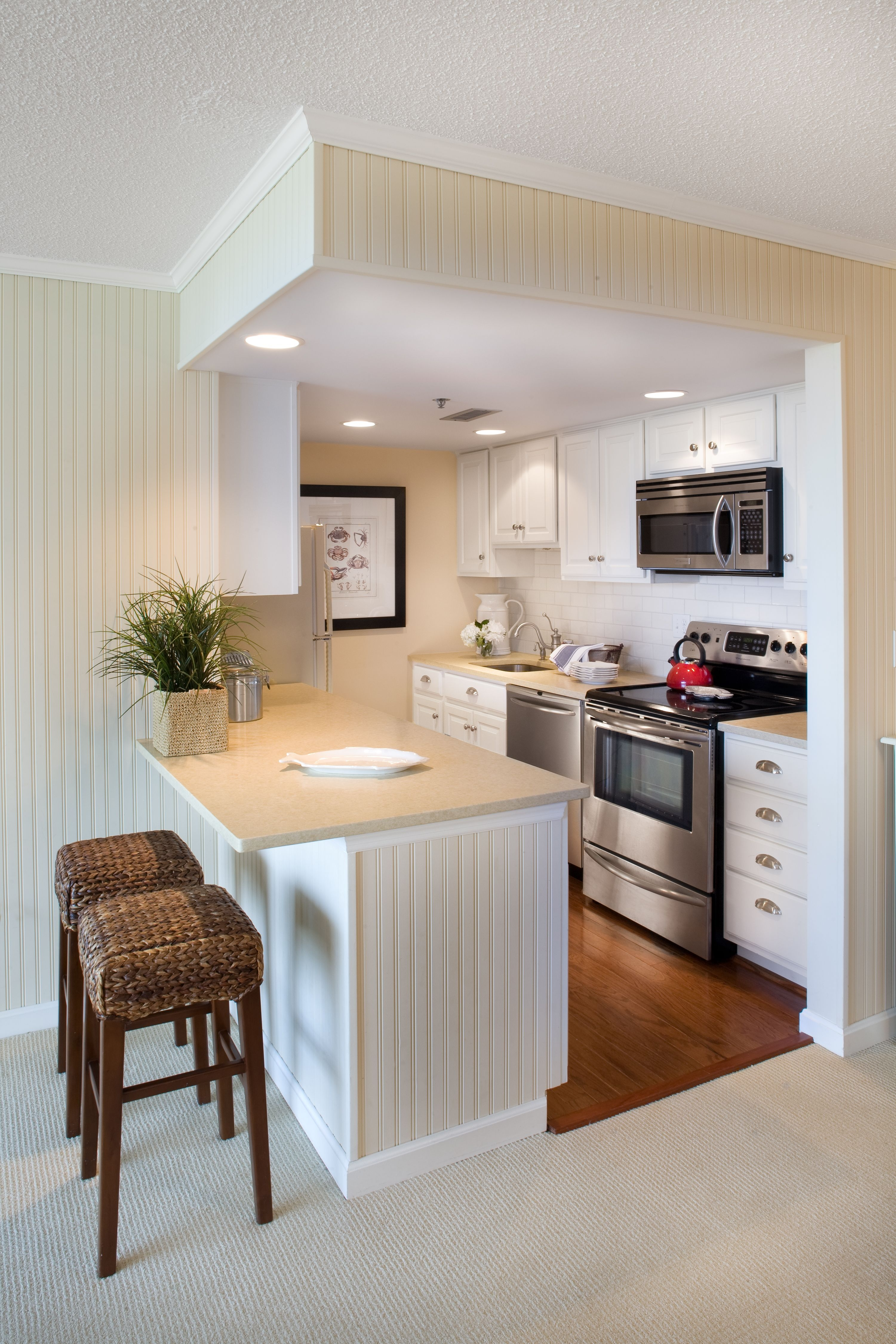 small but perfect for this beach front condo kitchen designed