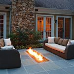 small fire pit under covered patio patio ideas