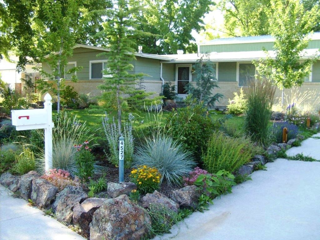 small front yard landscaping ideas colorado garden post curb