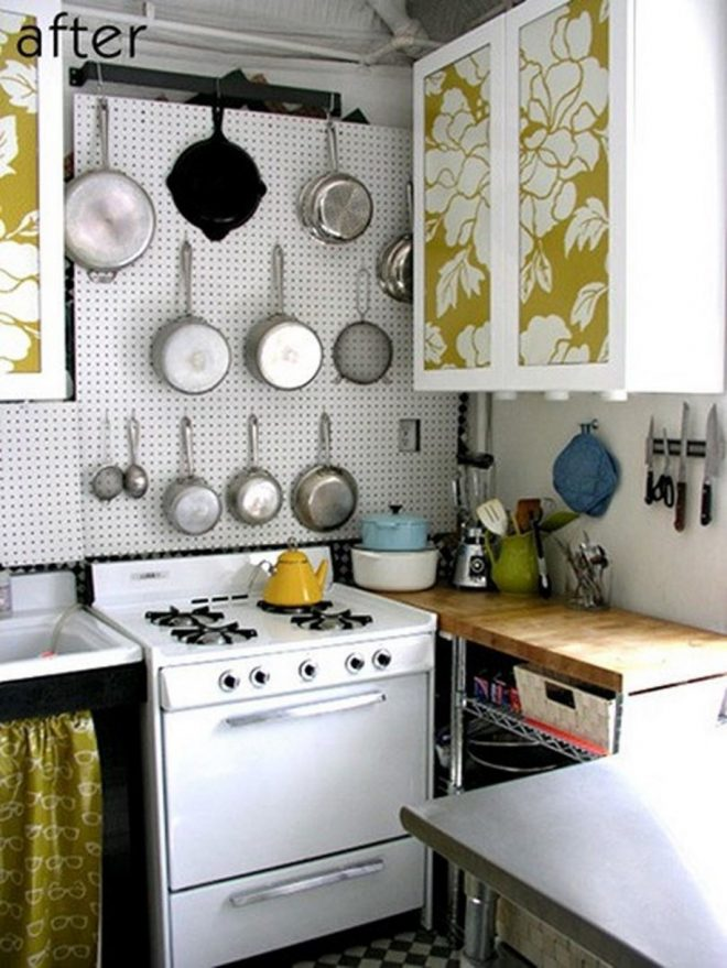 small kitchen spaces after remodel with storage solutions