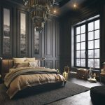 small romantic bedrooms wall mounted brown stainless wooden