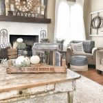 small rustic country living room diy decor ideas vaulted