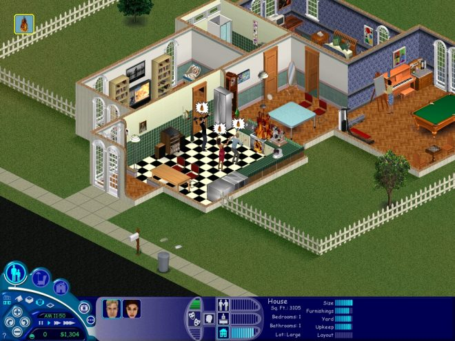 so here is my thursday night the sims 1 in all its glory