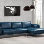 soflex pittsburgh sectional sofa right hand chase in blue bonded leather