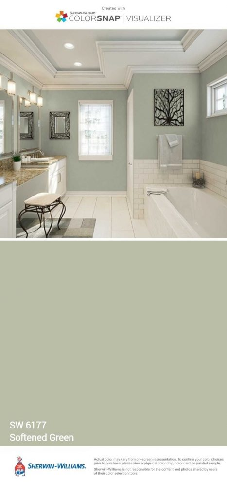 softened green master bedroom or bathroom in 2019 paint