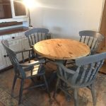 solid hand painted dining room table and chairs rustic cottage grey furniture pine lounge seat in cromer norfolk gumtree