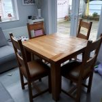 solid oak square dining table and 4 chairs in glossop dershire gumtree
