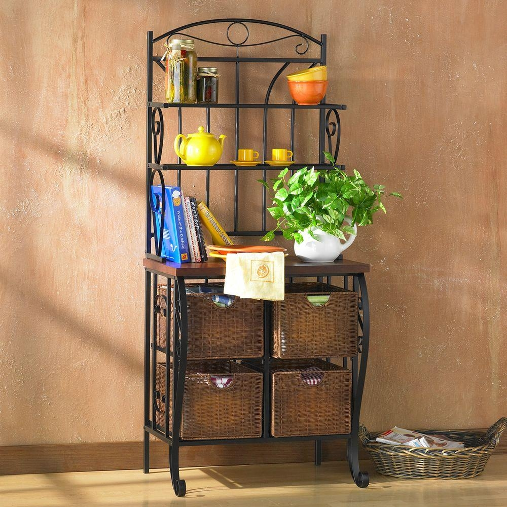 southern enterprises stewart black bakers rack hd888224 the home