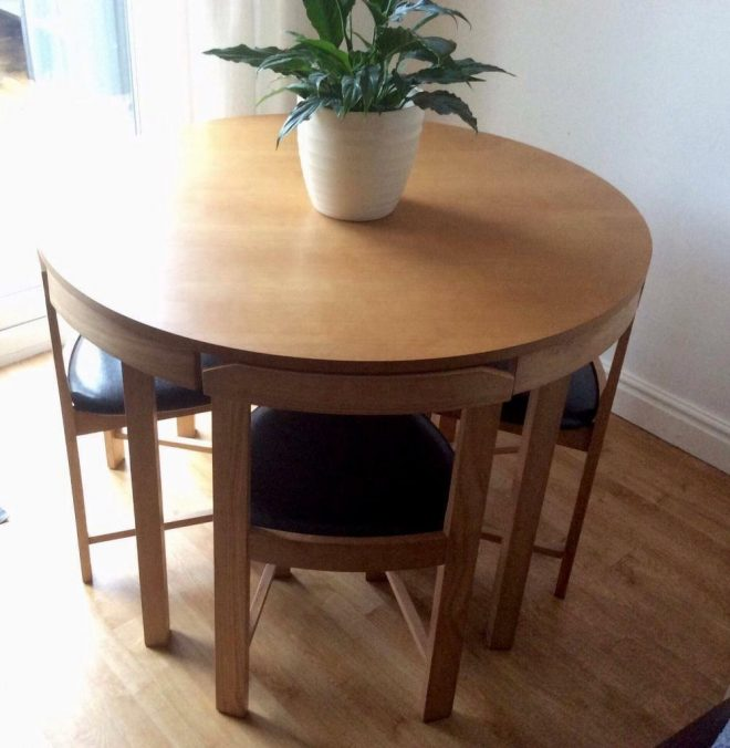spacesaver dining table chairs in lostock hall lancashire gumtree
