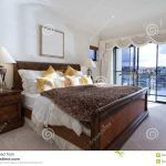 spacious master bedroom stock image image of real showcase