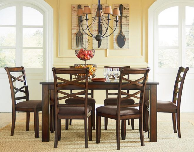 standard furniture redondo casual transitional piece dining