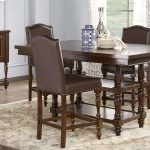 stanton cherry 5 pc counter height dining room with brown
