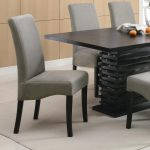 stanton gray dining chairs with black legs set of 2