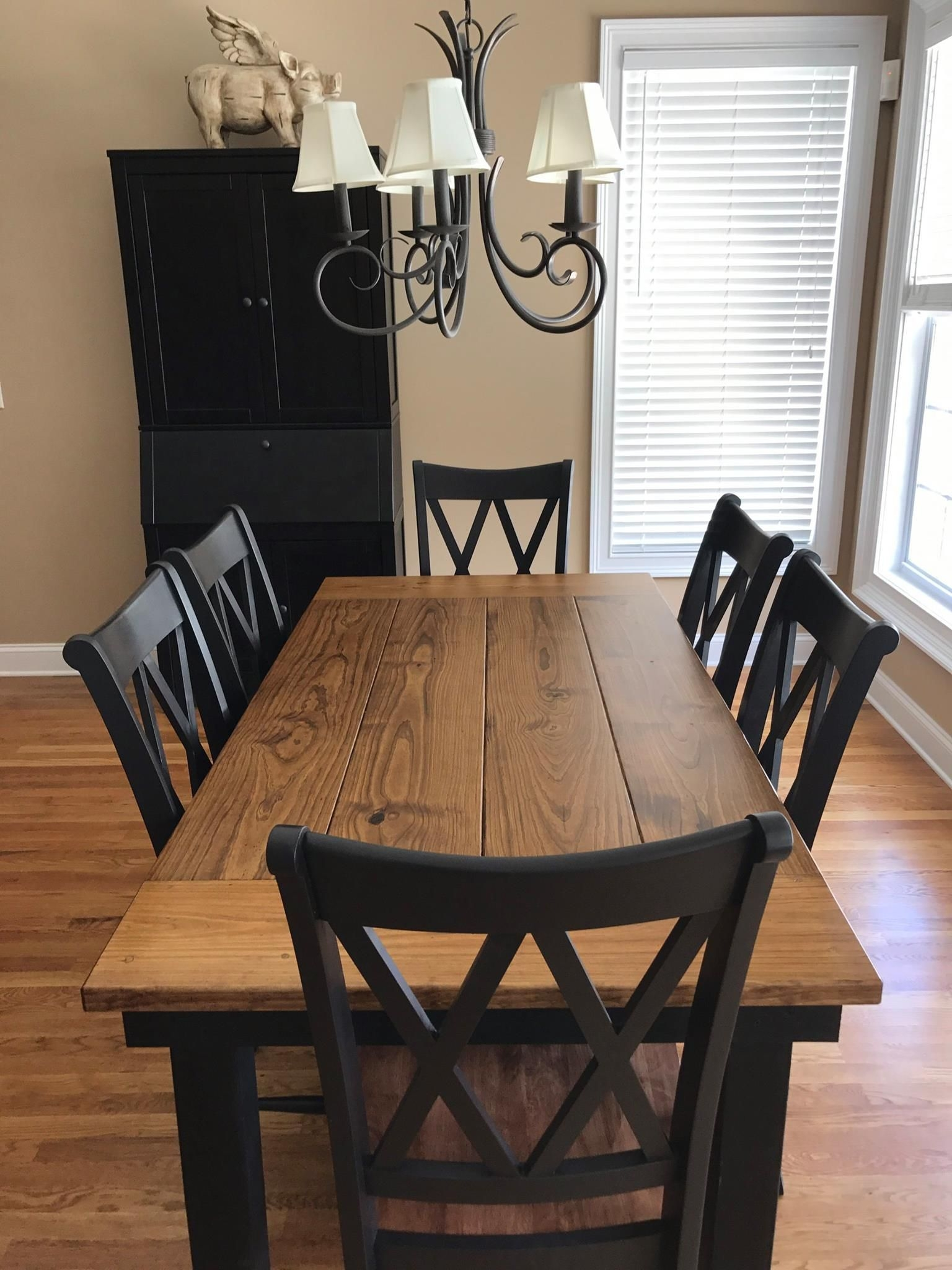 steel x base table pine home ideas pinterest dining room