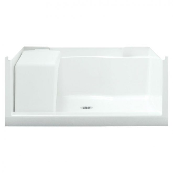 sterling accord seated 48 in x 36 in single threshold base in white