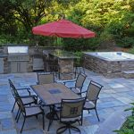 stone patio and hot tub the natural stone walls and patio