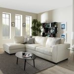 strick bolton milles white leather modern sectional sofa set with left facing chaise