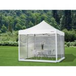 strongway pop up outdoor canopy tent mesh curtain 10ft x 10ft