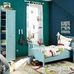 stunning blue themed kids room paint ideas with cool sky