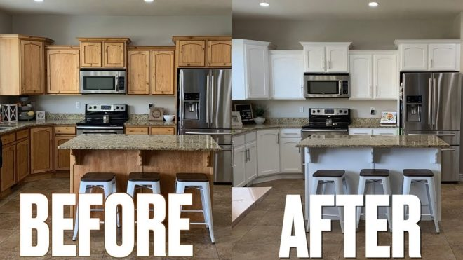 stunning kitchen makeover before after new look kitchen cabinets updating kitchen on a budget