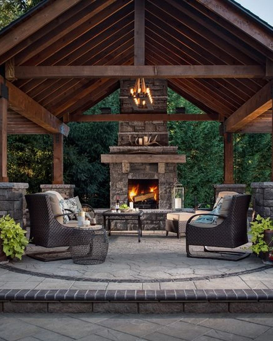 stunning outdoor space in 2019 outdoor fireplace designs