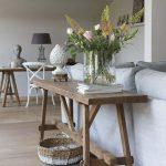 stunning rustic wood console table sofa table design