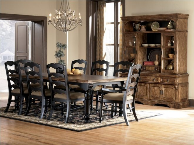 style of ashley furniture kitchen tables