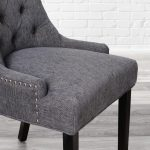 stylewell bakerford ebony wood upholstered dining chair with