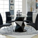 stylish black dining room with contemporary table design ideas