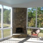 sun porch design ideas outdoor fireplace integrated into your