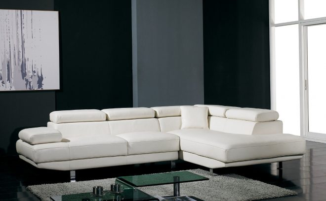 t60 ultra modern white leather sectional sofa sale of the